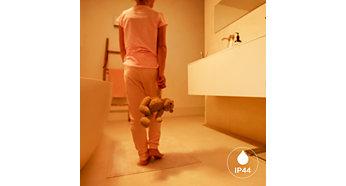 Krytí IP44, dokonale vhodné pro vaši koupelnu