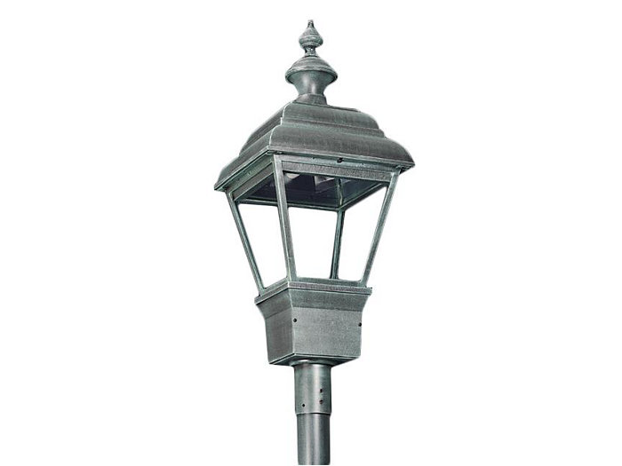 Grande Plymouth, 150W Clear HPS Lamp, Type V Cutoff Reflector, Utility Pod Post Top Mount