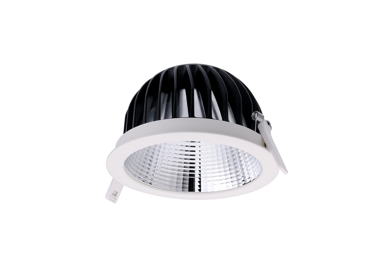 Miniaturised downlight with leading optical performance and great diversity