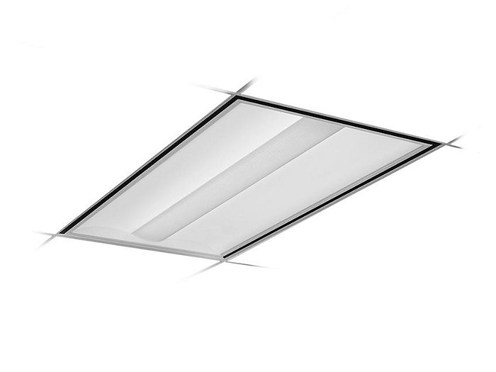 2x4, Air Handling, 6300 Nominal Delivered Lumens, 80 CRI, 4000K, Round Perf. w/White Overlay