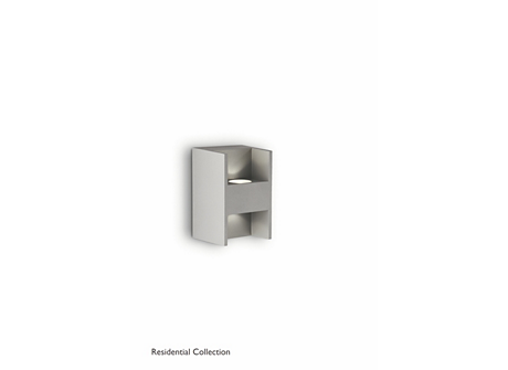 Metric wall lamp grey 2x2W SELV