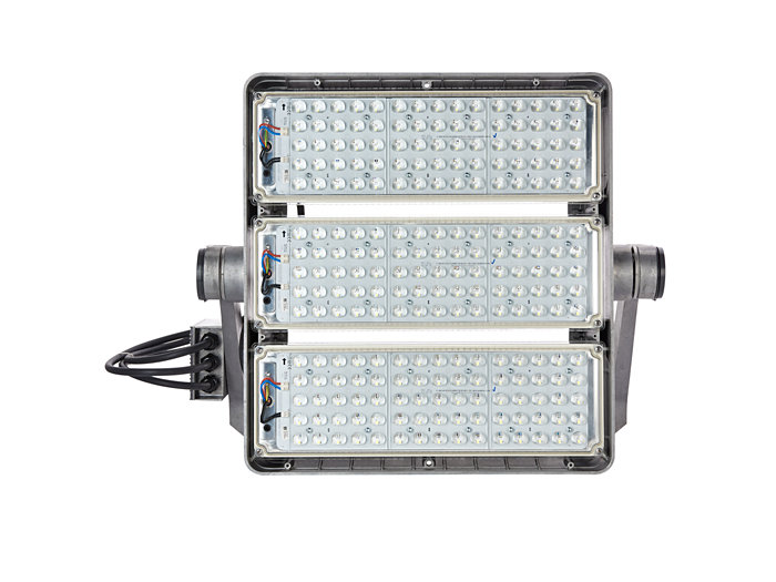 Front view of BVP525 floodlight (BV: version with external driver box)