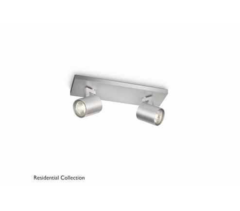 Runner bar/tube aluminium 2x50W 230V