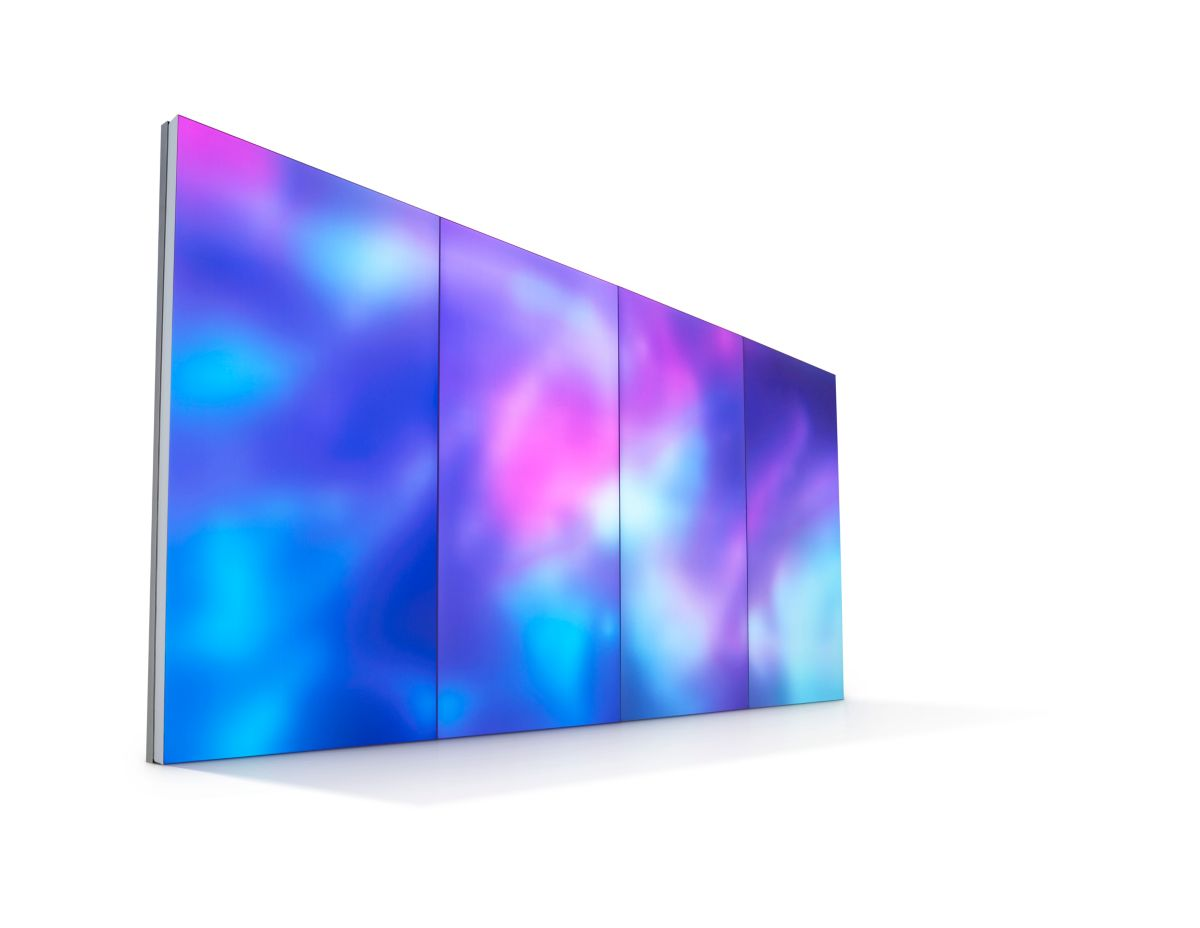 Luminous textile panels - packaged system