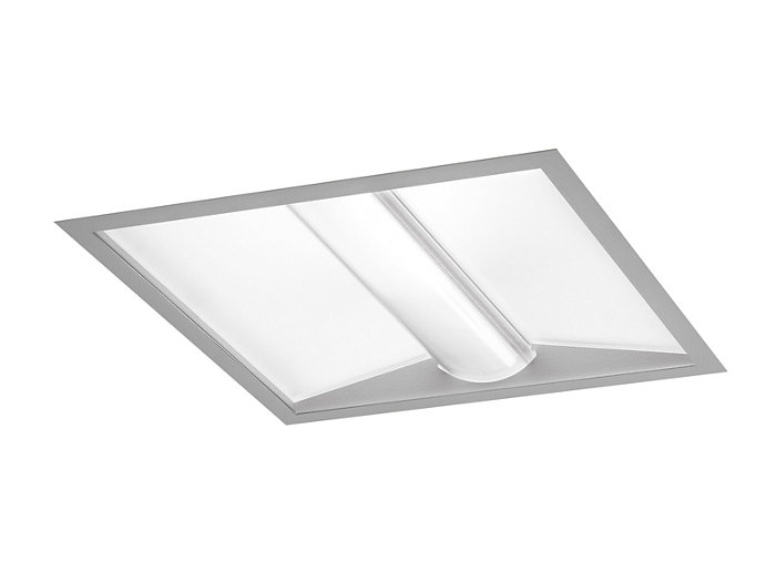 PureFX 2'x2' LED, 4400 lm, 3000/3500/4000K Direct, Acrylic MesoOptics Lens with Curved Ridge