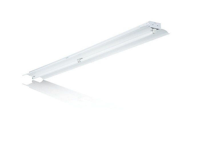 Aesthetic retail fluorescent Strip available with 3 lamps T5 or T8.
