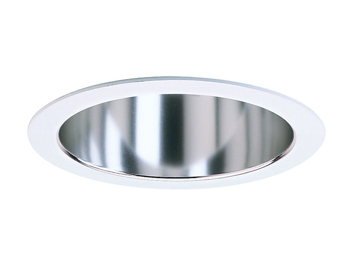 "Calculite LED 4"" Adjustable Accent, Finishing Reflector, Clear finish, White (painted) flange"