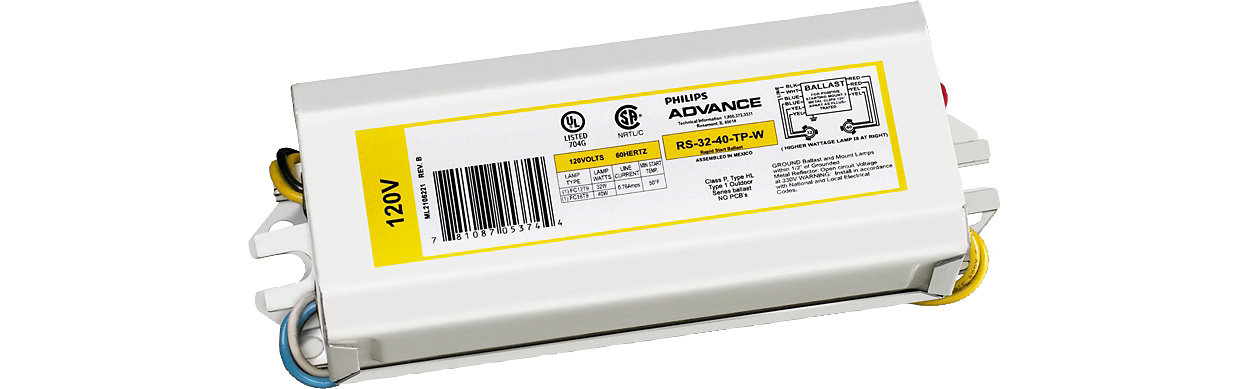 Appropriate choice for many fluorescent lamp types on the market