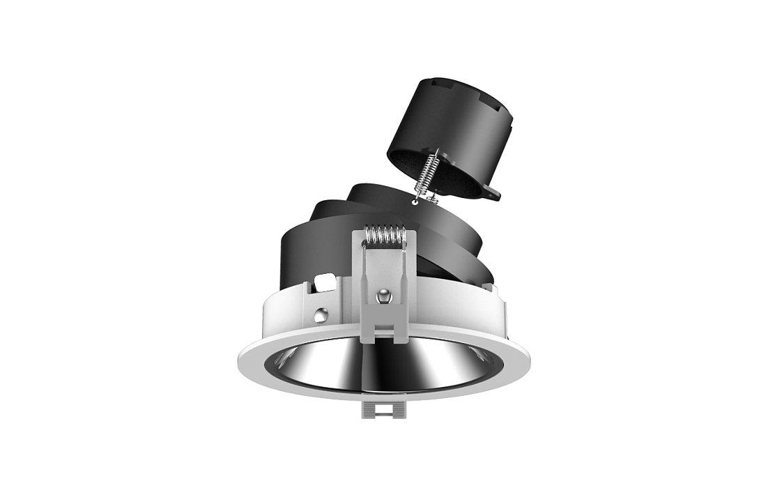 GreenSpace Flex 是專為 GC/GM 國家旅館服務業所設計的高效能產品組合,採用模組化設計概念,其照明引擎和不同的修整選項可產生各種組合,滿足客戶多樣化的需求。