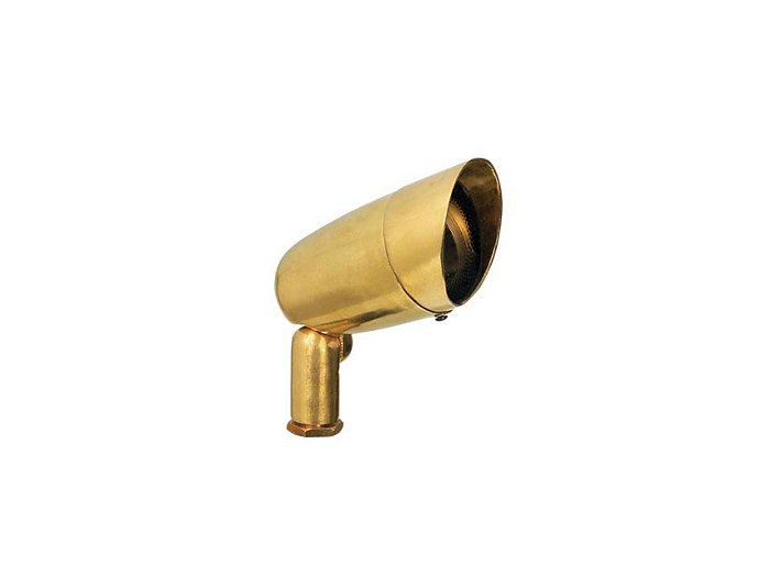 Accent w/ Stake & Lamp, Brass, 7W LED, Flood