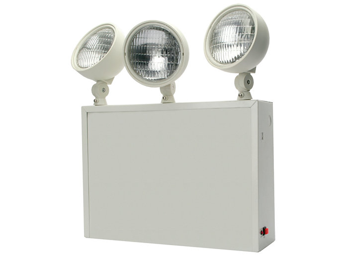 NYC Approved, Die Formed Steel Emergency Unit, 6V  27W, Lead Acid, 3-9W Tungsten Lamps
