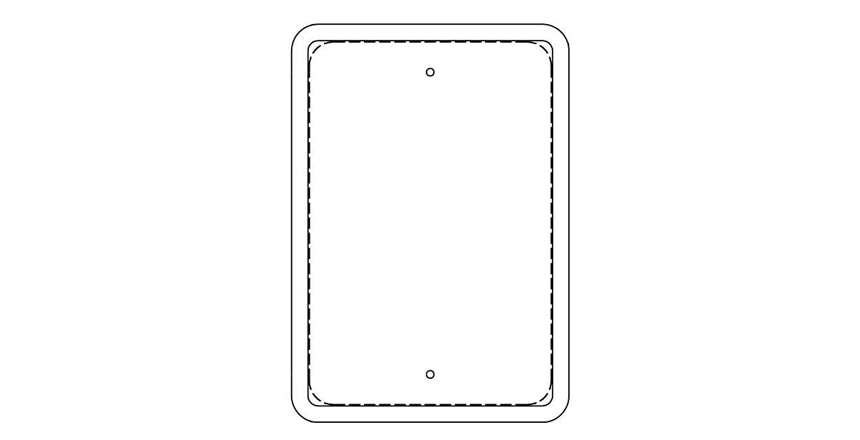 Traffic Sign Frames (211TSF) - added durability