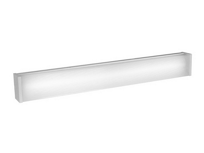 "TCeiling Or Wall Mounted Fluorescent, 6"" Width, 3 7/8"" Deep, wo lamp 54 watt T5 48"" length luminaire"