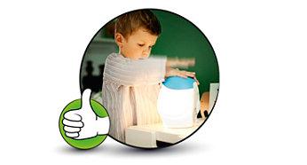 Froid au toucher et sans danger pour les enfants