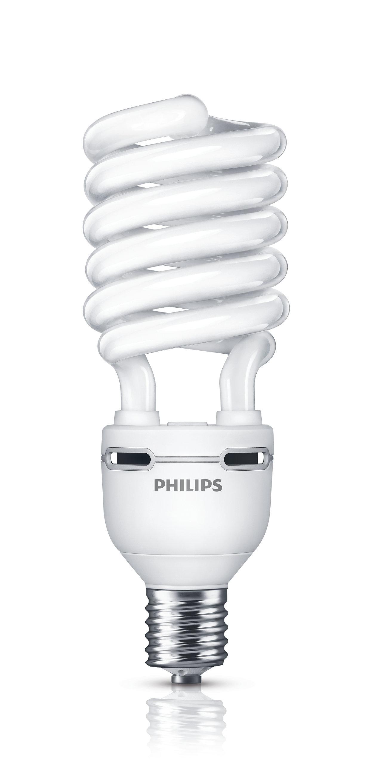 Lampe Twister à faible consommation avec un flux lumineux très élevé.
