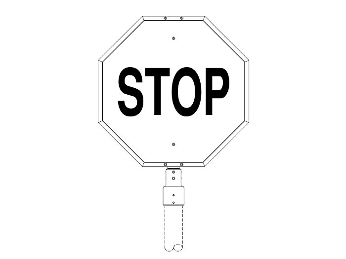 Stop Sign Frame with Post Fitter (233-3)