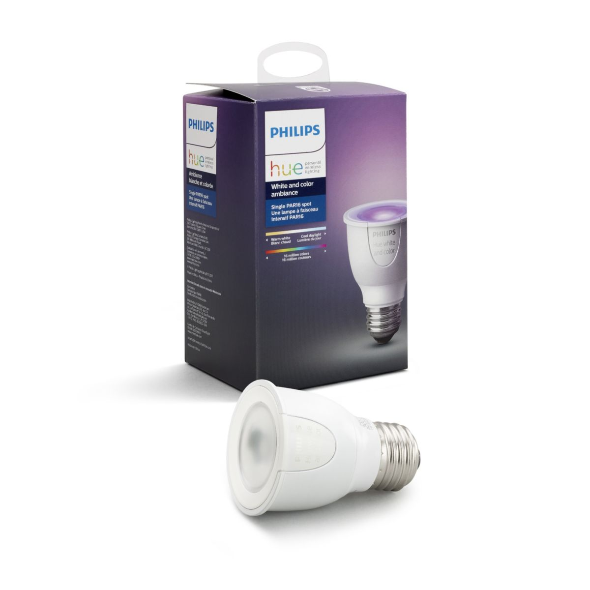 Philips Hue White and Color Ambiance PAR16 Single Bulb #456673