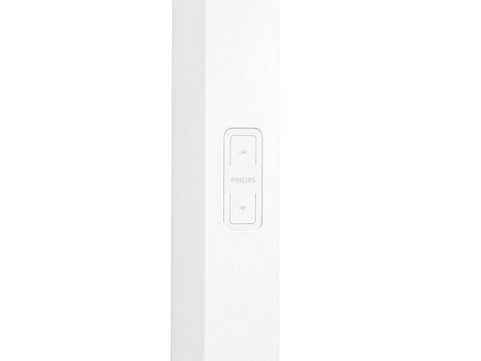 SmartBalance FS484F LED Stehleuchte: Taster für separates Dimmen und Schalten des Direkt- und Indirektanteil des Lichtes