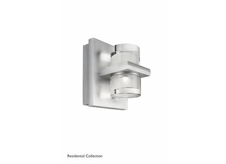 Darius wall lamp aluminium 2x2W SELV