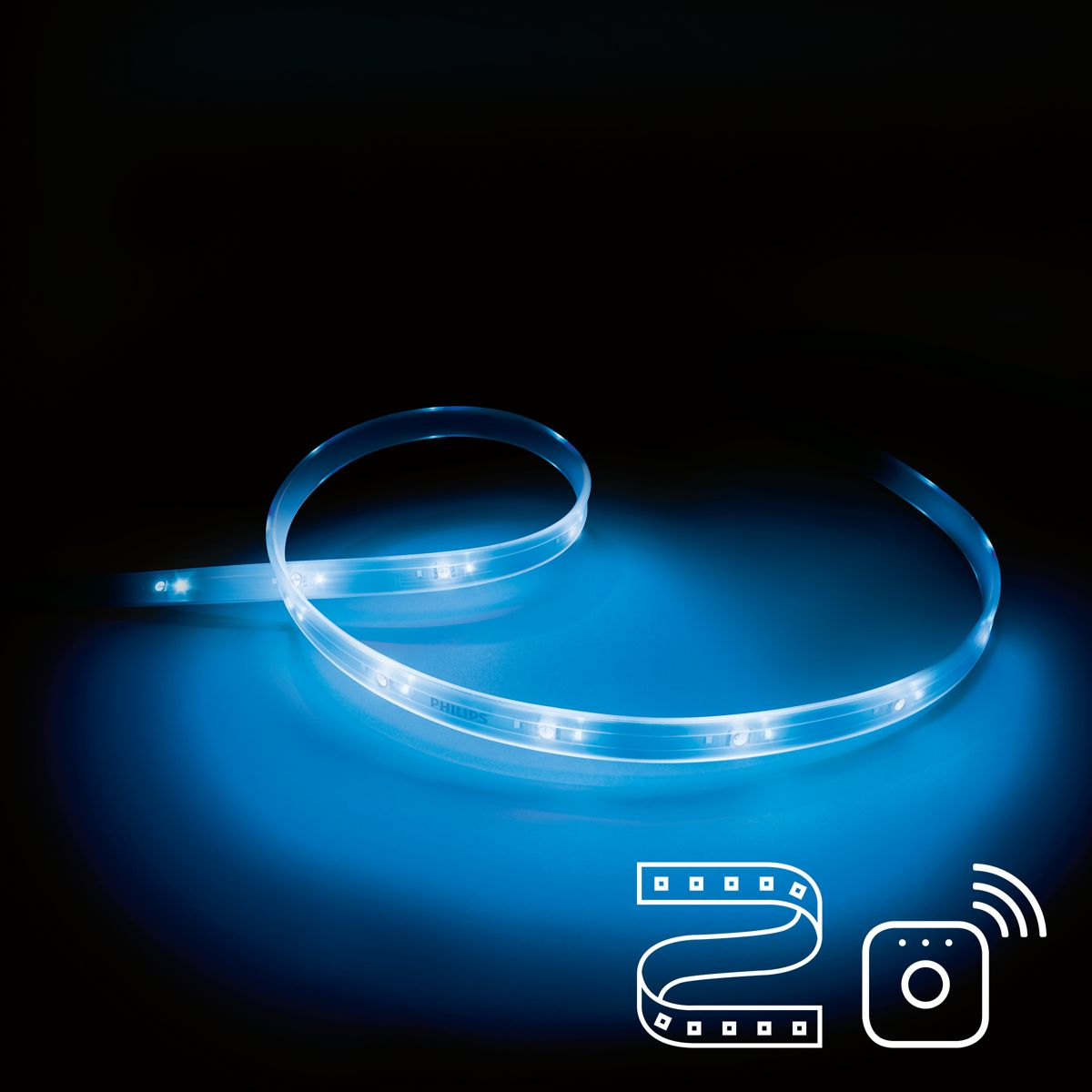 Vereist een Philips Hue Lightstrip Plus en een Philips Hue Bridge