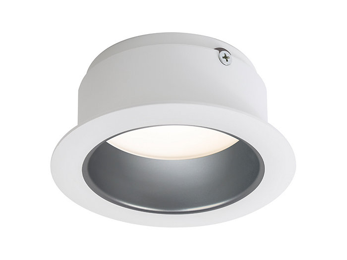 "LyteCaster LED 4"" clear diffuse downlight cone with white flange"