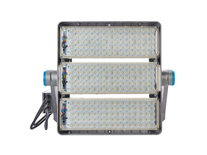 Front view of BVP425 floodlight (BV: version with external driver box)