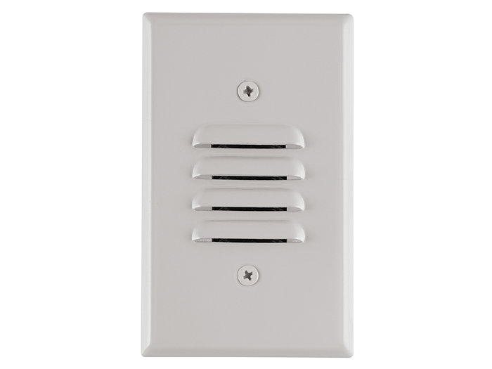 Mini Step Light, White LEDs, Universal Louver, 120VAC
