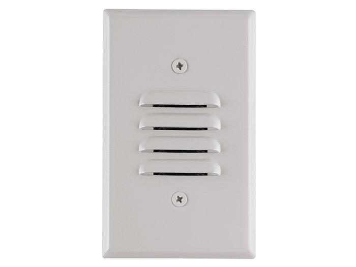 Mini Step Light, White LEDs, Universal Louver, 120VAC