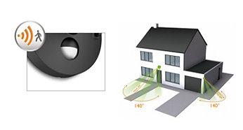 Sensor de movimento incluído, para comodidade e segurança
