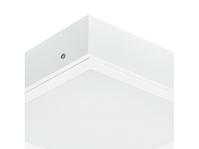 Cleanroom LED CR250B luminaire, module size 300x1200 mm, with surface-mounting box