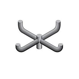 FX1 and FX2 Accessories, Quad Mount Bullhorn @ 90 (FX1-RSB-4-90)
