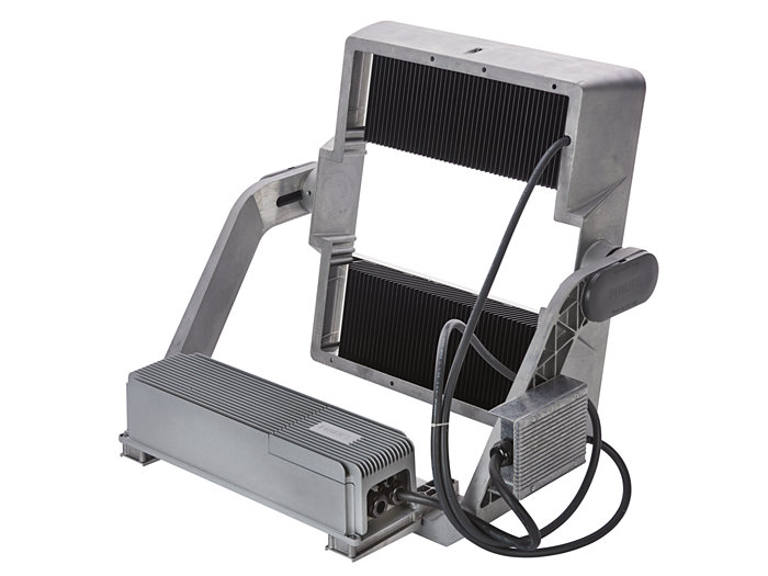 Rear view of BVP515 floodlight (HGB: version with driver box attached)