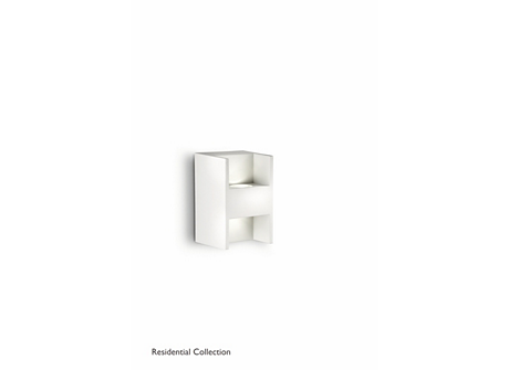 Metric wall lamp white 2x2W SELV