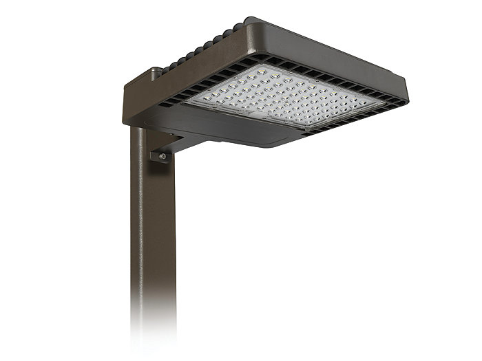 Area Light, 200W, 4000K, Type 4, 120-277V, Arm Mount, Motion Sensor, Bronze