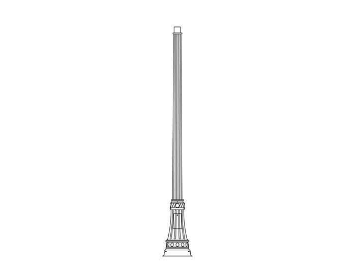 TRADITIONAL STEEL POLE