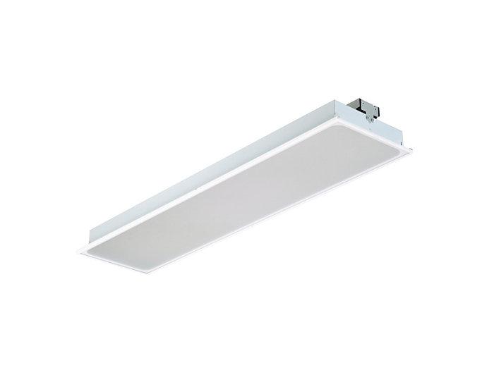 SmartBalance süllyesztett RC482B LED-világítótest, 312,5x1250mm-es modulméret (látható profilú mennyezeti változat)