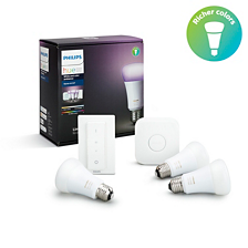 Hue White and colour ambience White and color ambiance Starter kit E27