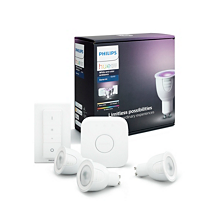 Hue White and colour ambience White and color ambiance Starter kit GU10
