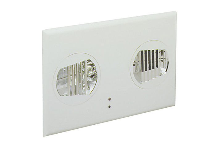 Fusion Recessed Remote Unit, Black Housing, 35W MR16 Halogen Lamps