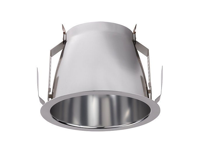 "Calculite 7"" Downlight Wide beam, Comfort Clear finish with white flange"