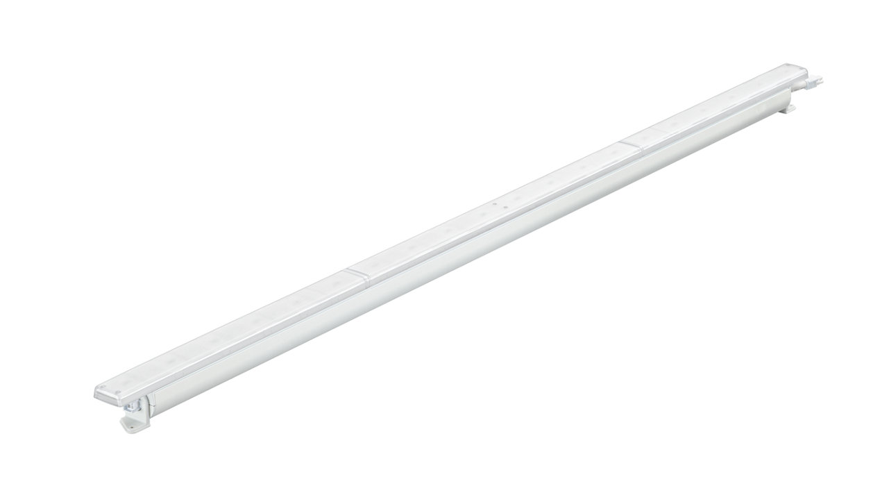 Premium concealed interior linear LED luminaire with intelligent white and colour light