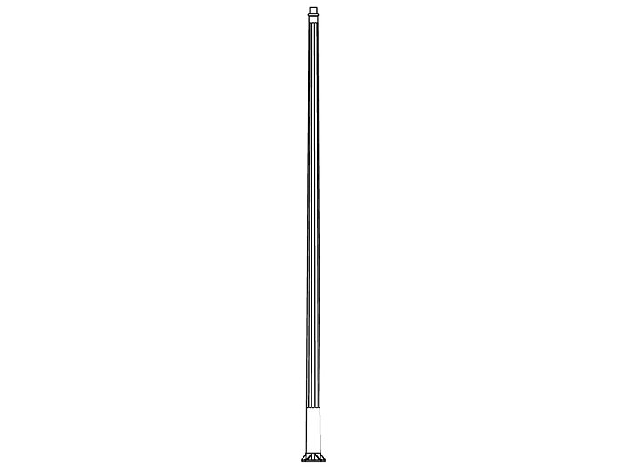 Pole (P9600), Round Tapered Fluted Pole