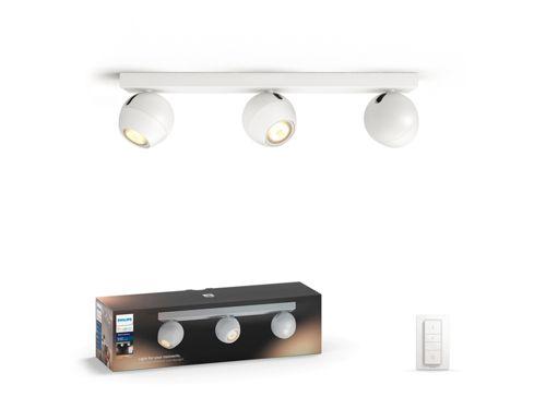 Hue White ambiance Buckram 3-lichts spotbalk