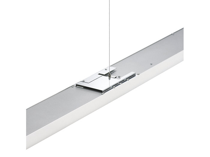 Arano suspended luminaires can be connected in a line arrangement