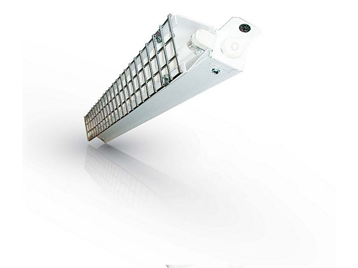 Durable Surface / Valance mount fluorescent available with 1 lamp T5.
