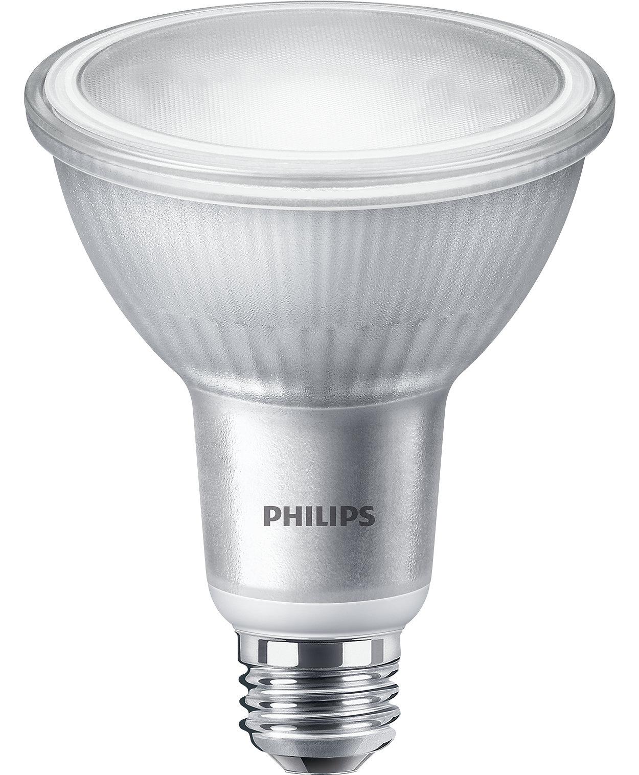 Tout ce que vous aimez d'une lampe halogène PAR30, le tout bonifié des avantages DEL. Mettez votre marchandise ou votre espace en valeur sans distraction.