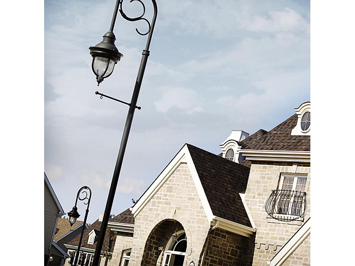 Ancestra, 80 LED, Type IV, Prismatic Globe, House Side Shield