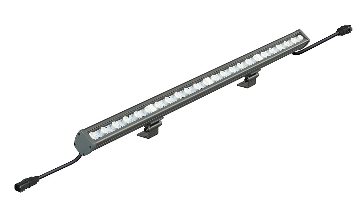 Vaya Linear MP – Powerful exterior-rated line-voltage linear LED grazing luminaire for dynamic color-changing and crisp white lighting effects