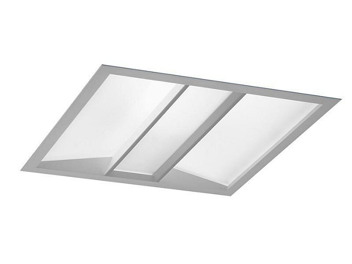 Vectra 2'x2' LED, 4400 lm, 3000/3500/4000K Direct, Acrylic MesoOptics Lens with Ridge