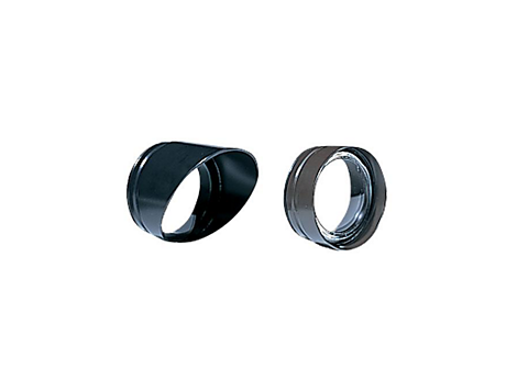 Aluminum Long Shroud, Painted Black, Flat Clear Lens